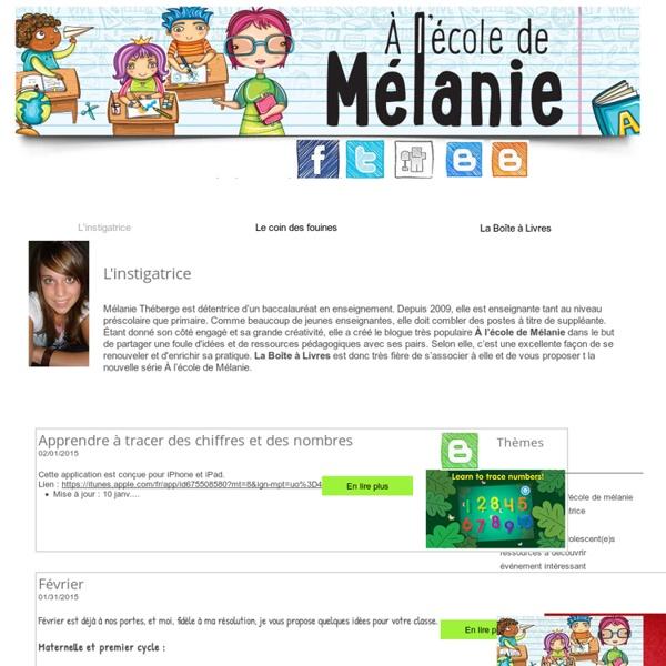 À l'école de Mélanie
