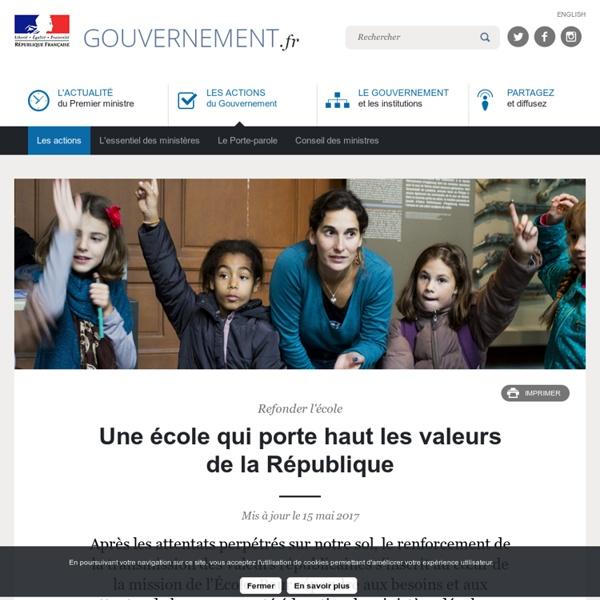 Une école qui porte haut les valeurs de la République