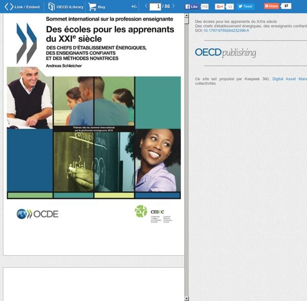 OCDE - Des écoles pour les apprenants du XXIe siècle