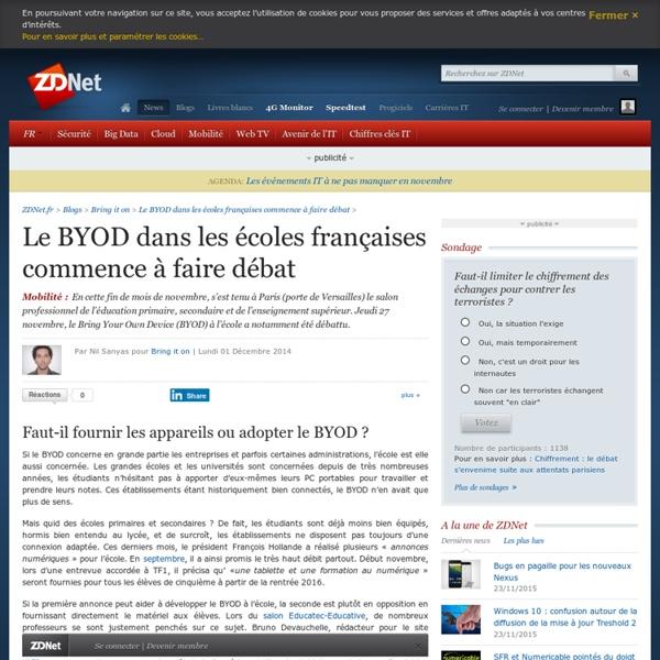 Le BYOD dans les écoles françaises commence à faire débat