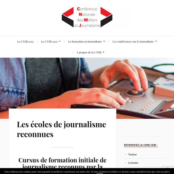 Les 14 écoles de journalisme reconnues