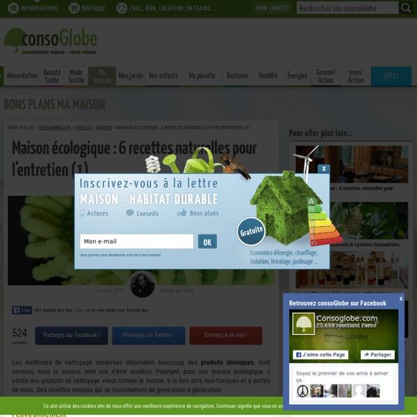 6 recettes naturelles pour l'entretien de la maison