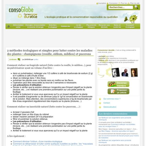 2 méthodes écologiques et simples pour lutter contre les maladies des plantes : champignons (rouille, oïdium, mildiou) et pucerons Consommer Durable