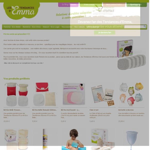 Textiles écologiques, économiques et pratiques - Les Tendances d'Emma. EML Distribution