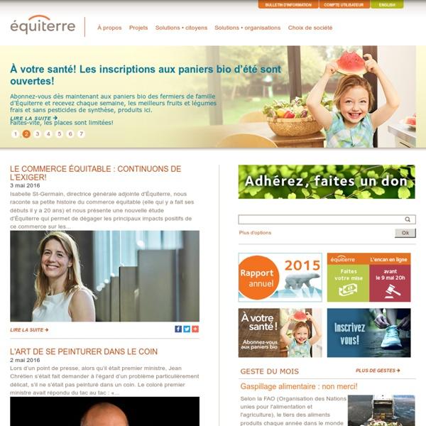 Equiterre.org - Pour des choix écologiques, équitables et solidaires