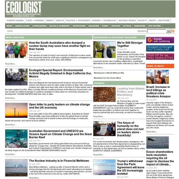 The Ecologist: Environment, Climate Change, News, Eco, Green, Energy - The Ecologist