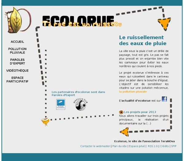"""Ecolorue, un ruisseau coule dans ma rue"""