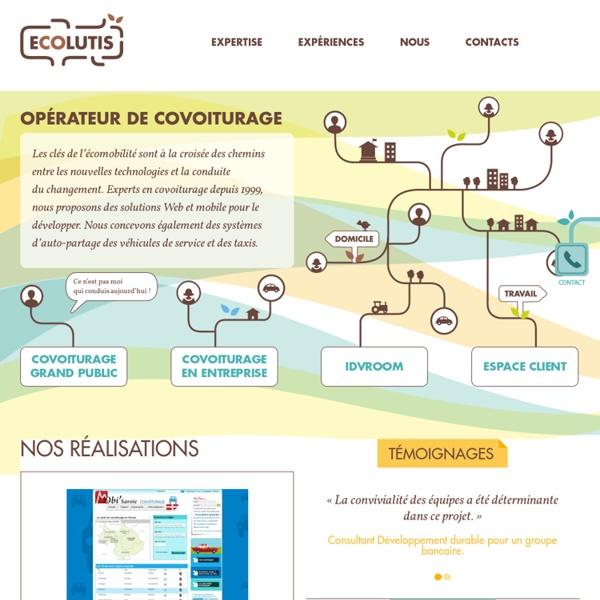 ECOLUTIS - Covoiturage Dynamique Entreprises Covoiturage Collectivités Covoiturage Entreprise