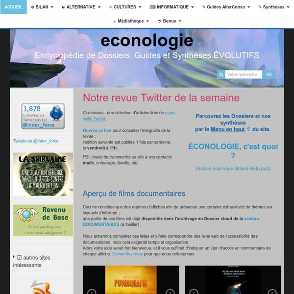 Econologie - encyclopédie de SAVOIRS (dont pratiques) !