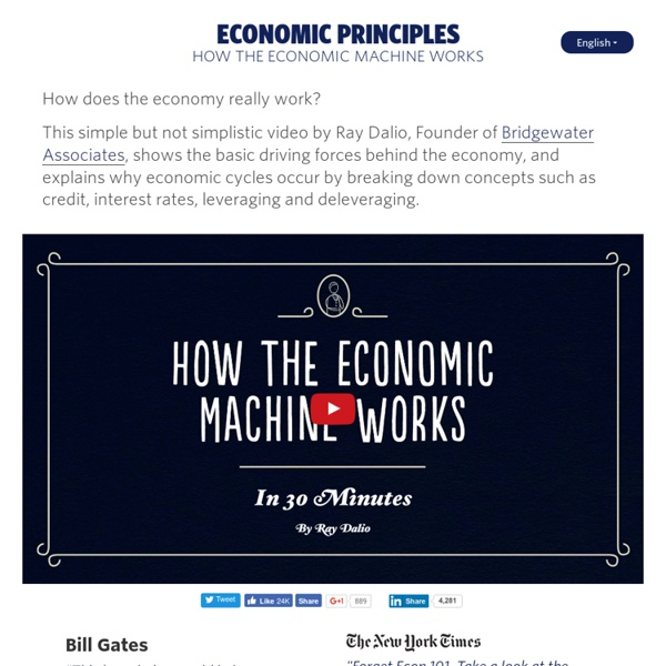 How the Economic Machine Works [Animation] by Ray Dalio