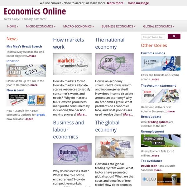 Economics Online Home