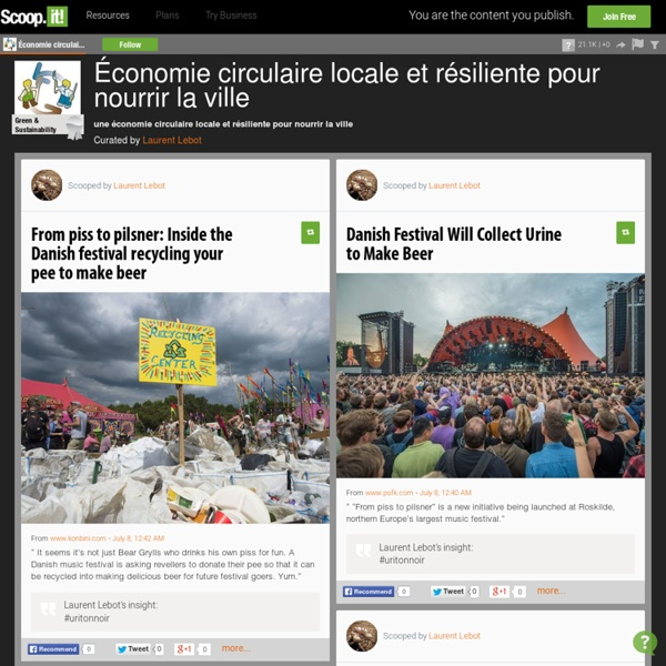 Économie circulaire locale et résiliente pour nourrir la ville