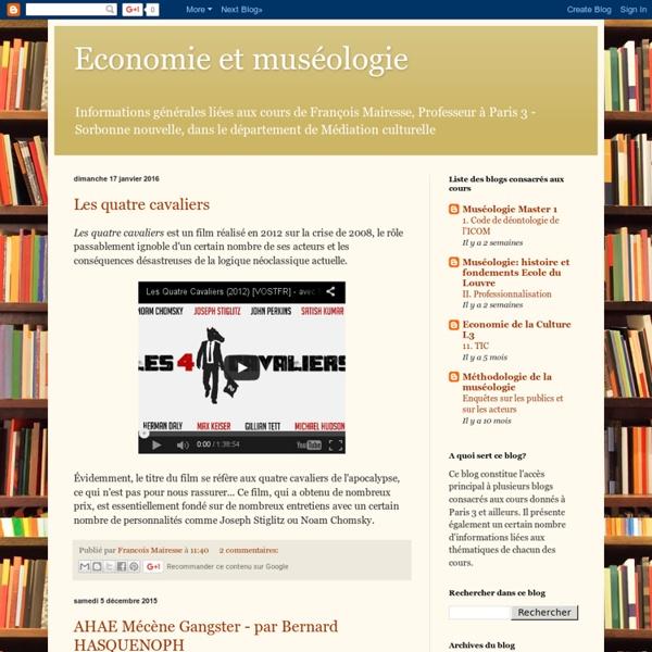 Economie et muséologie
