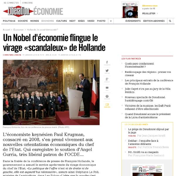 Un Nobel d'économie flingue le virage «scandaleux» de Hollande