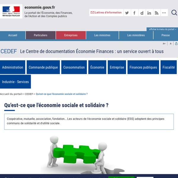 CEDEF - Qu'est-ce que l'économie sociale et solidaire ?