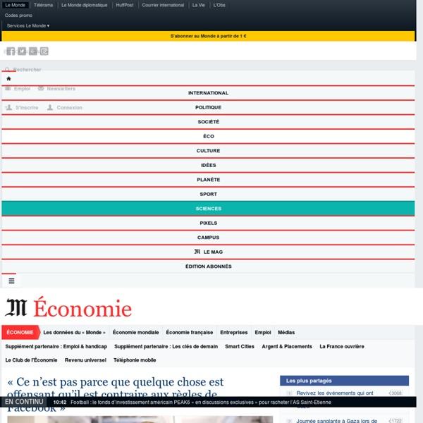 Économie : Toute l'actualité sur Le Monde.fr.