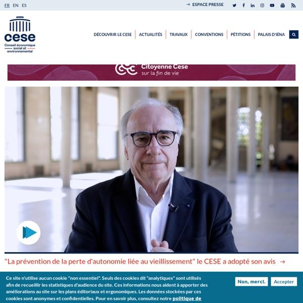 CESE, conseil économique social et environnemental