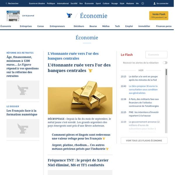 Le Figaro Economie - Actualité économique et financière, conseils en gestion de patrimoine