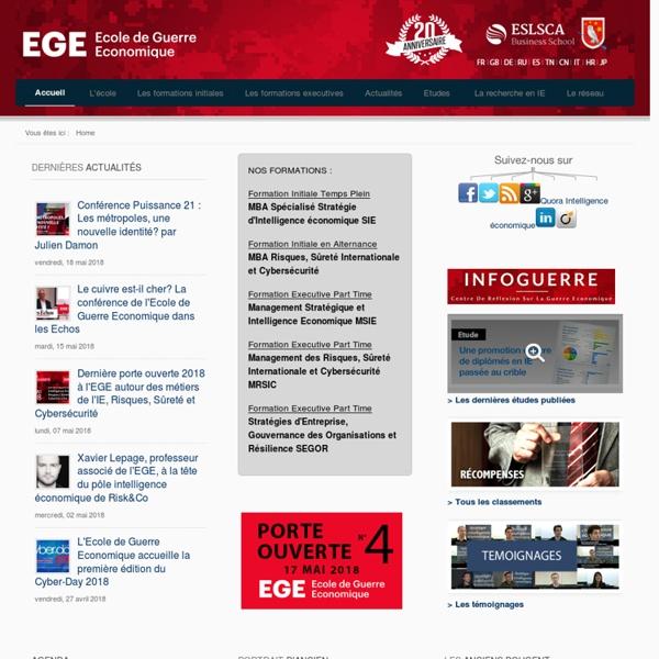 Intelligence économique - EGE - Témoignages