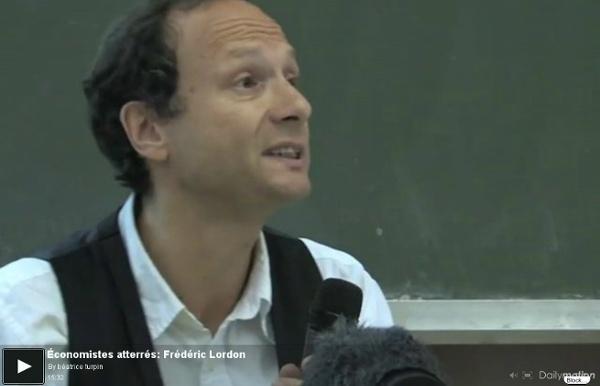 Conomistes atterrés: Frédéric Lordon - une vidéo Actu et Politique