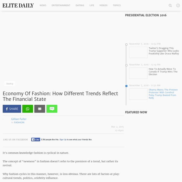 Economy and Fashion?