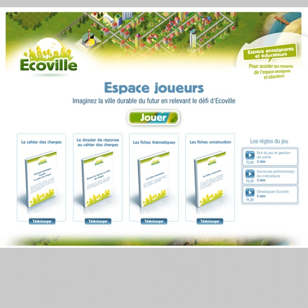 ECOVILLE - Espace joueurs