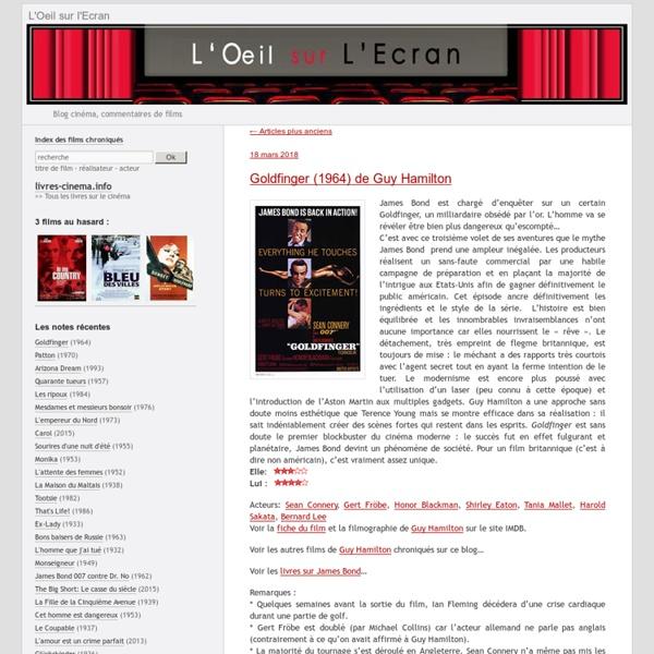 Blog cinéma, commentaires de films