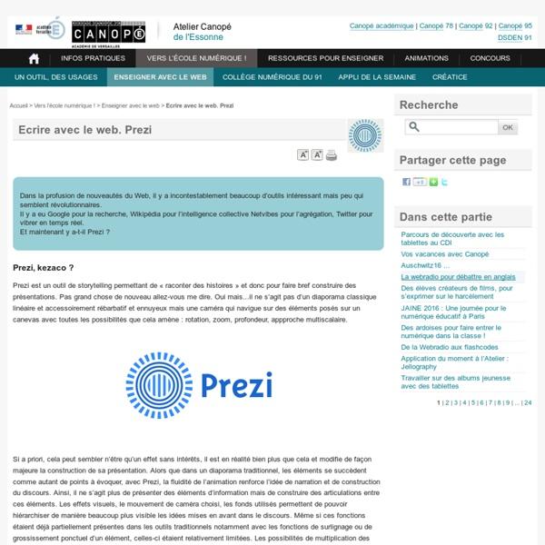 Prezi : écrire avec le web - CDDP Versailles