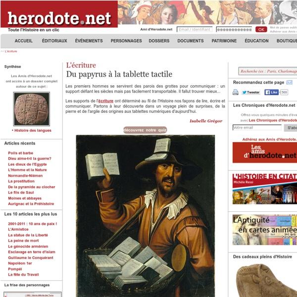L'écriture - Du papyrus à la tablette tactile