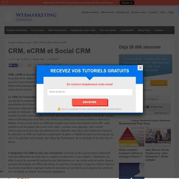 CRM, eCRM et Social CRM : toutes les définitions