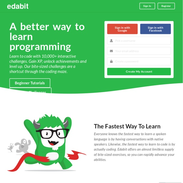 Edabit // Learn to Code with 10,000+ Interactive Challenges