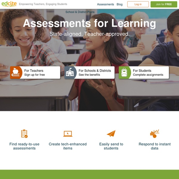 Edcite Common Core Practice Assignments for K12