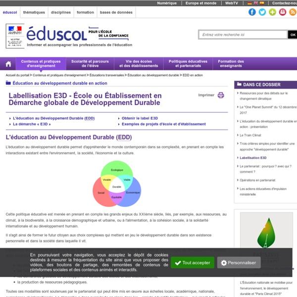 EDD en action - Labellisation E3D