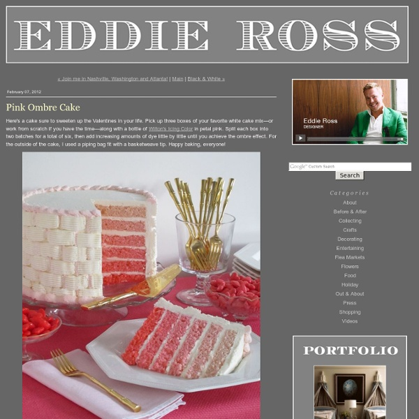 EDDIE ROSS - Pink Ombre Cake