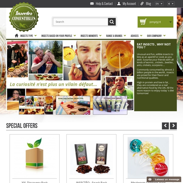 Edible Insects, No. 1 Shop in France and Europe since 2009