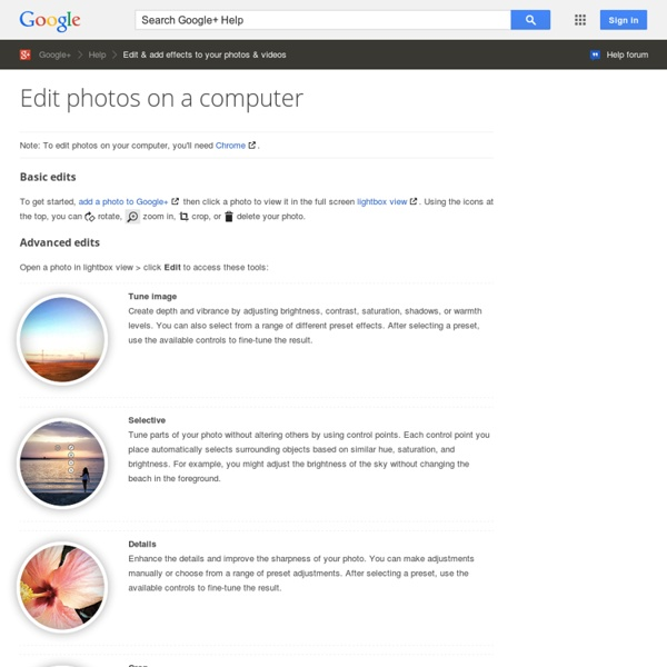 Edit your photos - Google+ Help