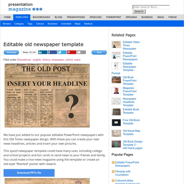 Editable Old Newspaper Template | Pearltrees