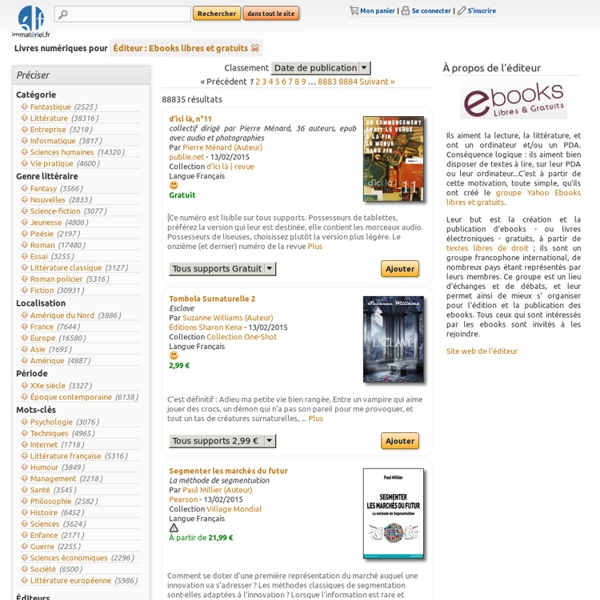 Éditeur : Ebooks libres et gratuits - immatériel.fr
