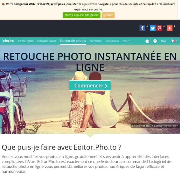 Editor.Pho.to - Modifier vos photos facilement en ligne