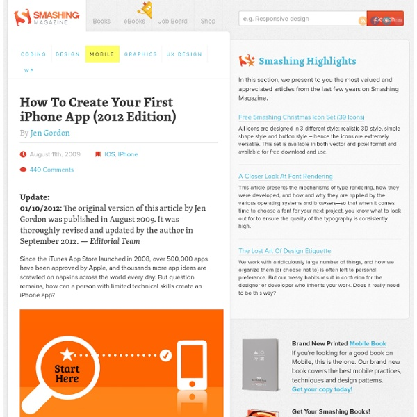 How to Create Your First iPhone Application - Smashing Magazine
