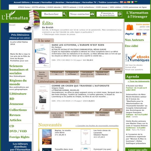 Éditions L'Harmattan - livres, ebooks (édition numérique)