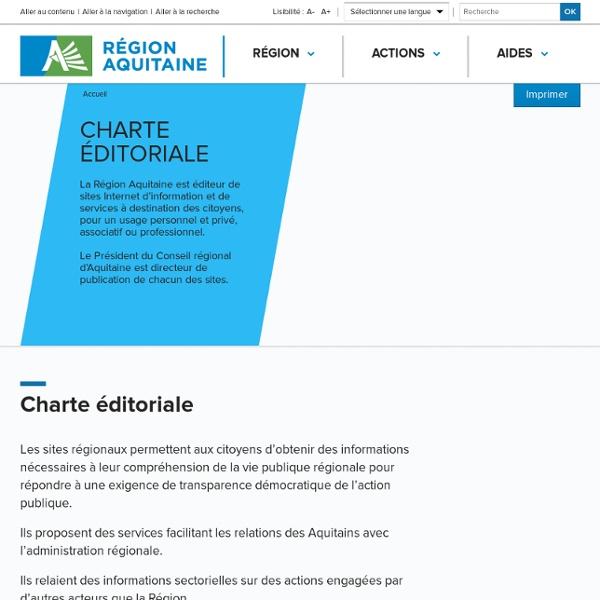 Charte éditoriale Internet