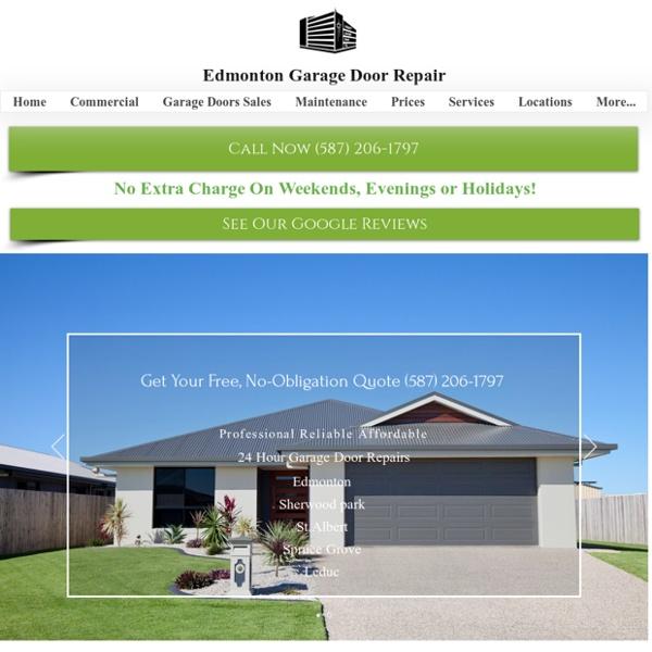 Edmonton Garage Door Repair Services