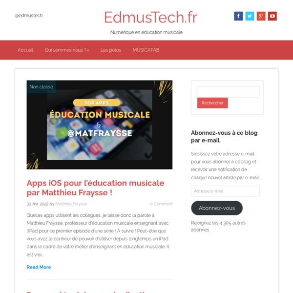 EdmusiPad.fr - L'iPad en éducation musicale, mais pas que !