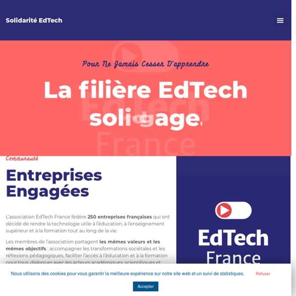 EdTech France – La EdTech s'engage