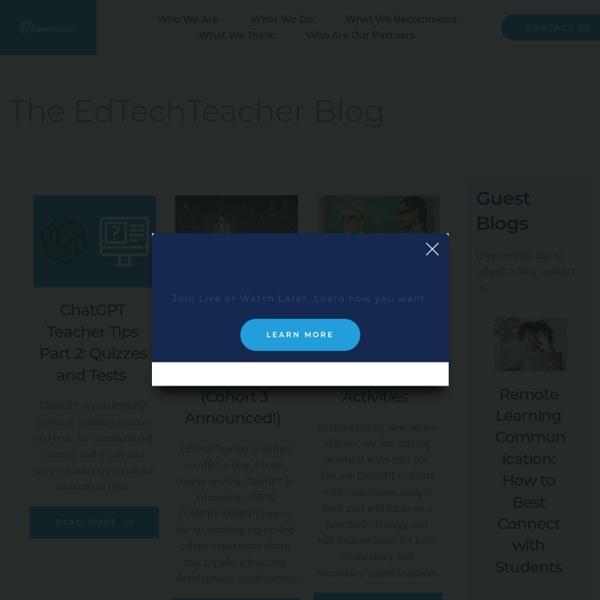 EdTechTeacher EdTechTeacher Blog