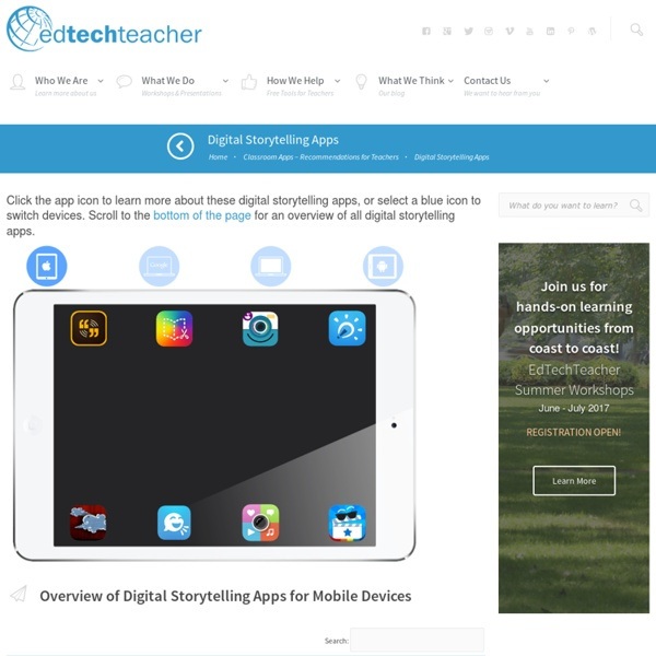 EdTechTeacher Digital Storytelling Apps