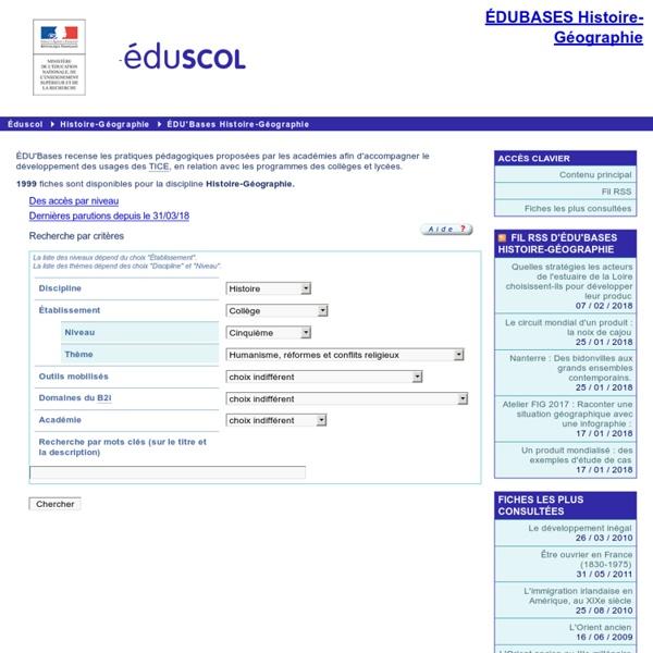 EDU'bases Histoire-Géographie