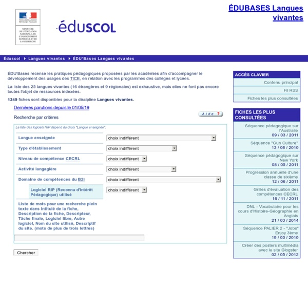 EDU'bases langues vivantes