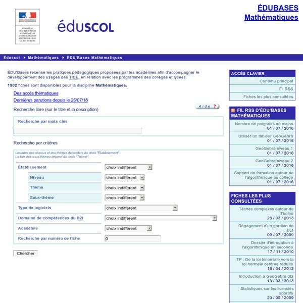 EDU'bases mathématiques